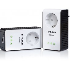 TL-PA251KIT آداپتور AV200+ Multi-Streaming Powerline Starter Kit with AC Pass Through